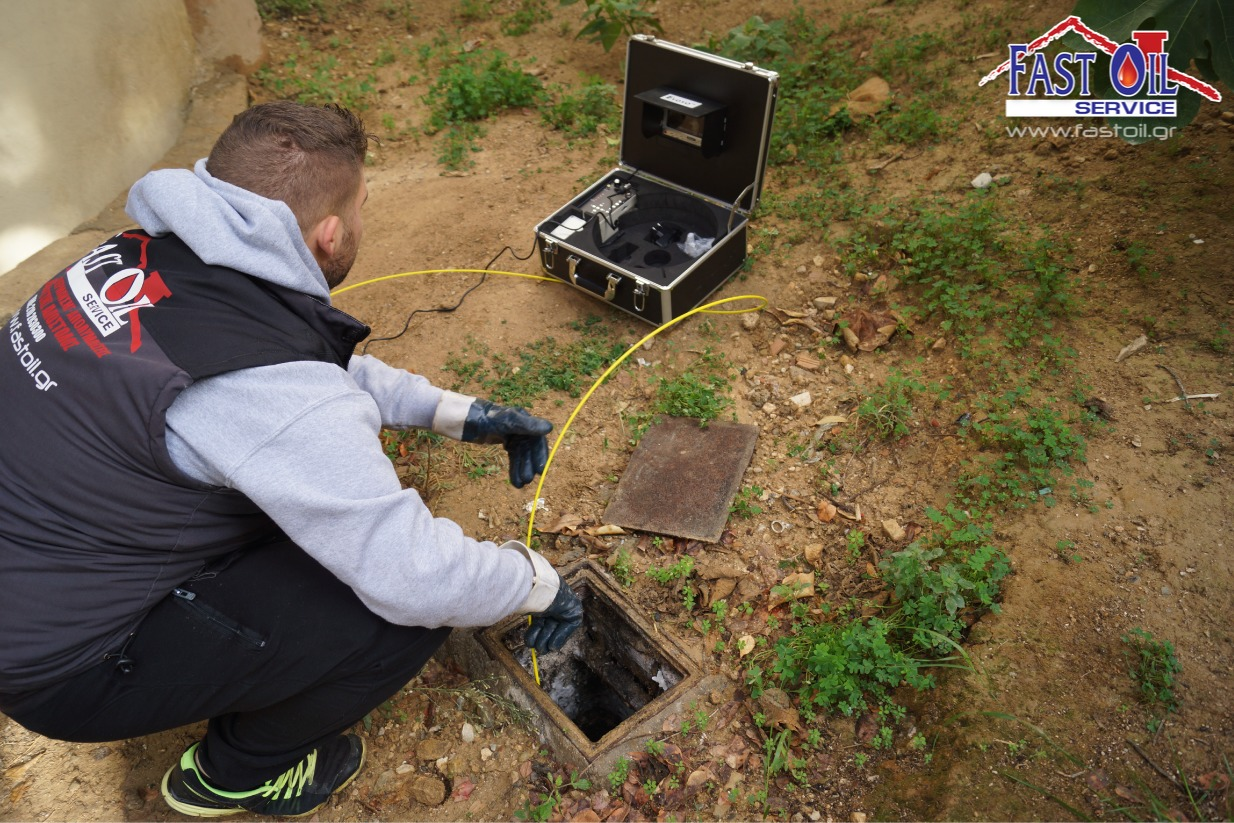 Aπoφράξεις Αθήνα-Διάγνωση με κάμερα fastoil service